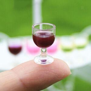 Dolls House Miniature Handmade Glass Goblet With Ball Stem