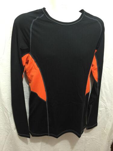 BNWT Mens Sz Small Jockey Performance Cool Active Black//Orange Long Top RRP $45