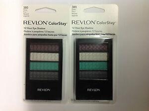 2-X-Revlon-Colorstay-12-Hour-Quad-Eye-Shadow-SILVER-FOX-380-NEW