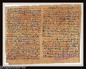Details about Wall Art of Edwin Smith Egyptian Papyrus Surgical Document  Year 1600 bc 11x14