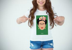Kahlo Frida Maglietta Fashion T Famosi Shirt Personaggi Outfit Donna bgf6Yy7