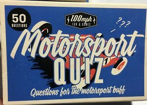 TRAVEL CARD GAME 100MPG FUN&GAMES  MOTORSPORT QUIZ NOVELTY PARTY NEW