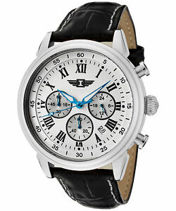 I By Invicta Men's 90242-002 Chronograph Stainless Steel Silver Dial Watch