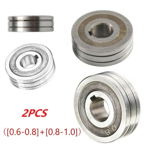 2PCS V-Groove Mig Welder Wire Feed Drive Roller Roll Parts 0.6-0.8 /& 0.8-1.0