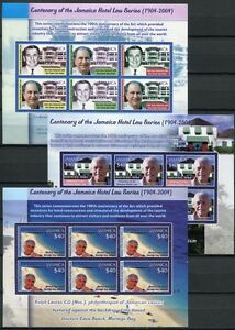 Jamaica-Jamaica-2004-hotels-hoteliers-Tourist-Tourism-1055-1063-small-sheets-MNH