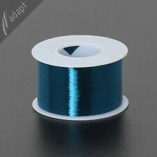 Magnet Wire, Enameled Copper, Blue, 42 AWG (gauge), 155C, ~1/2 lb, 24500 ft S