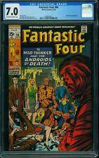 FANTASTIC FOUR # 96 US MARVEL 1970 Mad Thinker  KIRBY  FN-VFN CGC 7.0