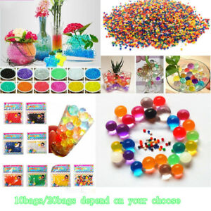 10-20-Bags-Crystal-Pearl-Water-Plant-Beads-Bio-Hydro-Gel-Balls-Grow-Jelly-Ball