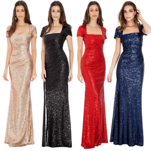 Goddiva-Sequin-Square-Neck-Evening-Maxi-Gown-Dress-Prom-Party-Ball-Bridesmaid