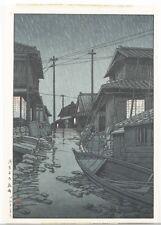 Japanese woodblock print, Hasui Kawase. Lot 463