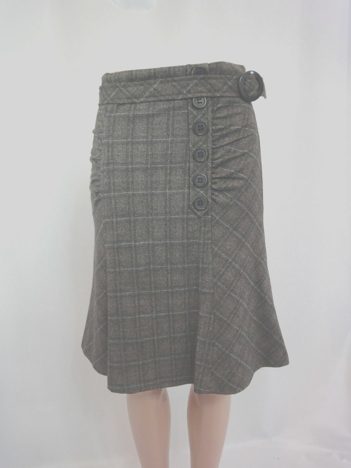 Nanette Lepore Plaid Wool  Skirt Sz 2