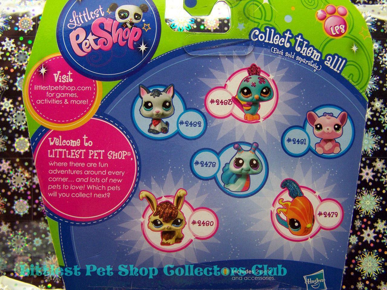 Littlest Pet Shop Walmart Glitter BUNNY lot MOUSE 2481 2481 2481 Rare Retired NIB f97d32
