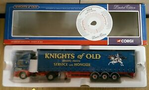 Corgi-75405-Leyland-DAF-Curtainside-Knights-of-Old-Ltd-Edition-No-0004-of-4000