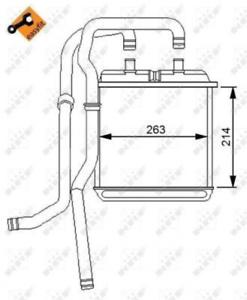 NRF (54216) Wärmetauscher, Innenraumheizung für IVECO