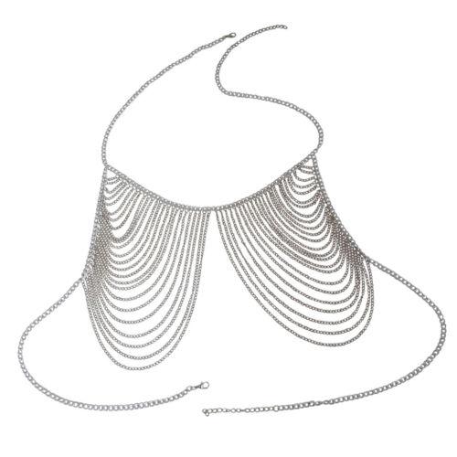 Damen Quasten Körperkette Brustkette Bikini Halskette für Frauen und Mädchen