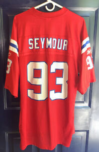 Details about Vtg New England Patriots Richard Seymour #93 Throwback Red NFL Jersey Retro Lg