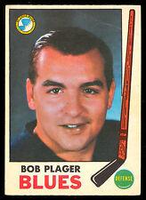 1969 70 OPC O PEE CHEE HOCKEY #13 BOB PLAGER EX+ ST LOUIS BLUES CARD