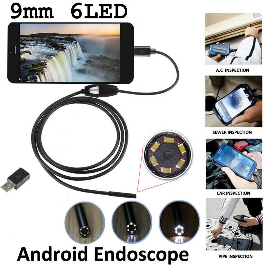 5-10M Wasserdicht USB Endoskop Rohr Handy kamera Inspektionskamera 6 LED AN99 r