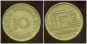 SARRE-10-franken-1954-bis
