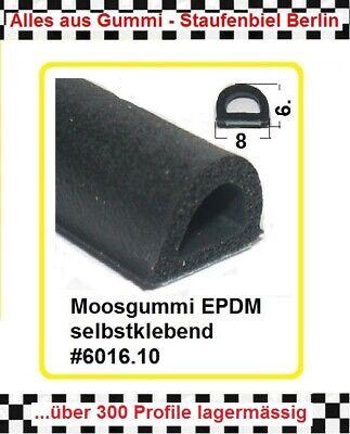 1m Muster Gummidichtung Moosgummidichtung Selbstklebend 6016.10 Aus Berlin Hoher Standard In QualitäT Und Hygiene
