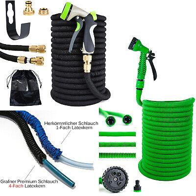 Grafner® Premium flexibler Gartenschlauch 30m Wasserschlauch dehnbar Schlauch