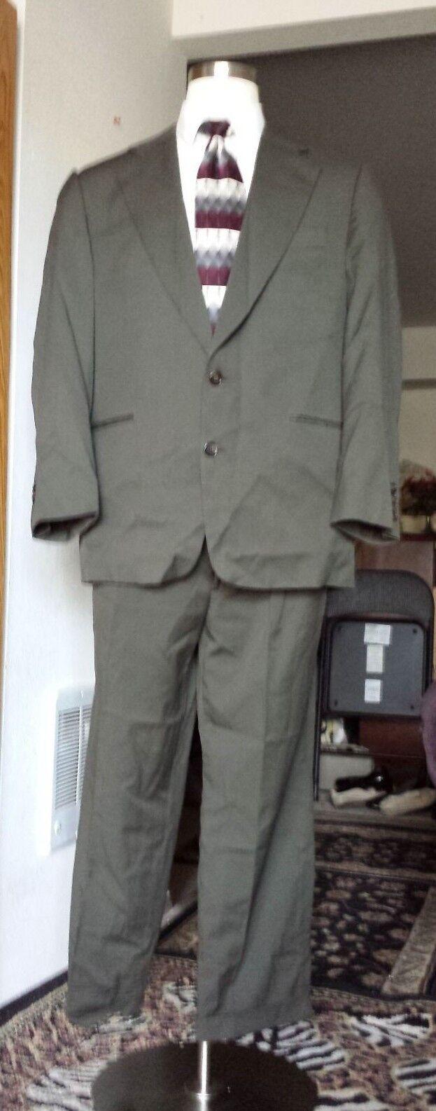 Custom grau Suit Größe 42R by Ermenegildo Zegna 100% Wool