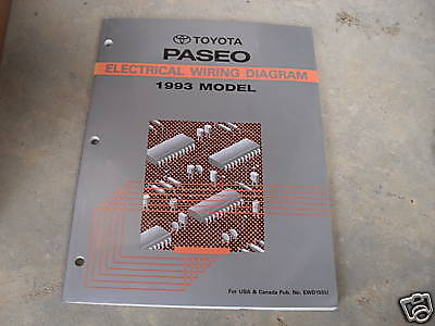 1993 Toyota Paseo Electrical Wiring Diagram Service Shop ...