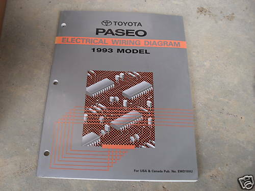 1993 Toyota Paseo Electrical Wiring Diagram Service Shop
