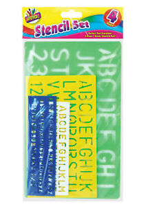 Stencil Set Letters Alphabet Craft Numbering Signs Lettering Perfect Text Tallon