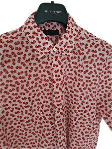 Mens-BURBERRY-PRORSUM-RUNWAY-short-sleeve-shirt-size-medium-Immaculate-RRP-350