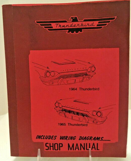 1964  U0026 1965 Ford Thunderbird Shop Manual Include Wiring