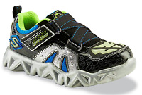 Skechers Boy's Luminators Datarox Hydrometer Black/silver Light-up Shoes