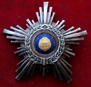 K47) Rumänien ORDEN STERN DER SOZIALISTISCHEN REPUBLIK, Bruststern, RARRR