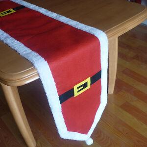 Rot-Deckchen-Tischlaufer-Tischband-Weihnachten-Christmas-Dekoration-180-35cm