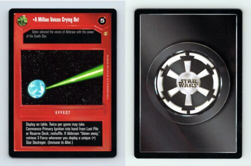 A Million Voices Crying Out Star Wars Tatooine Limited 2001 DS Rare CCG Card