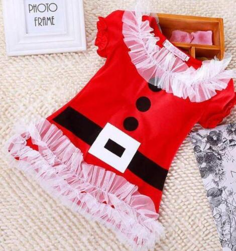 Girls Dress GIRLS SANTA FATHER CHRISTMAS DRESS FESTIVE PARTY Gift Cute FASHION