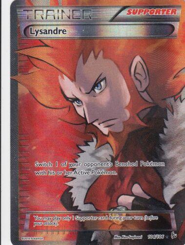 - 104//106 Flammenmeer EN LP Pokemon Lysandre Flordelis