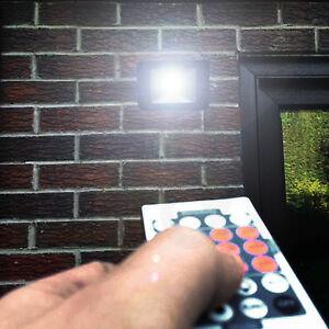 Remote Controlled Slim Modern  PIR Energy Saving LED Security Flood Light Sensor