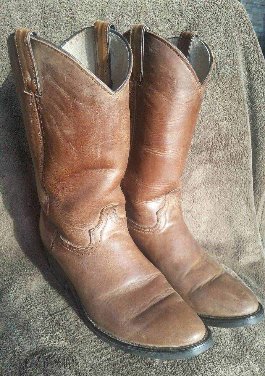 Biltrite Leather Brown Cowboy Western Work Boots Nice Mens size 9.5 D