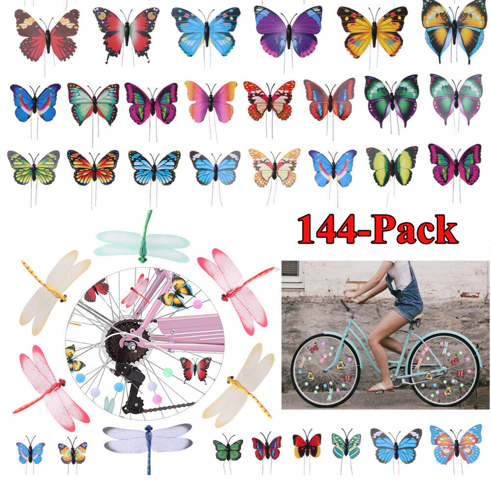 36pc Bicycle Bike Wheel Plastic Spoke Bead Children Kids Clip Colored Decor YJUK