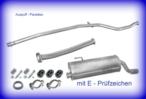 Abgasanlage Auspuff mit Endrohr-Blende Peugeot 206 Kit 1.1 Typ T3E Fließheck