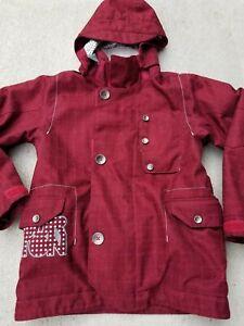 BURTON-Boys-034-Smalls-Team-Jacket-034-Hooded-SNOWBOARD-SKI-JACKET-sz-M-7-8