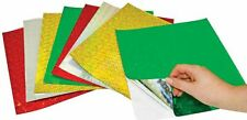 SELF ADHESIVE HOLOGRAPHIC PAPER SHEETS: 25 SHEETS (250x250mm)