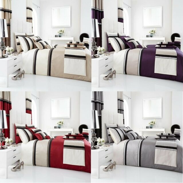 Panama Duvet Quilt Cover with Pillowcase Bedding Set, 4 COLOURS -All Sizes