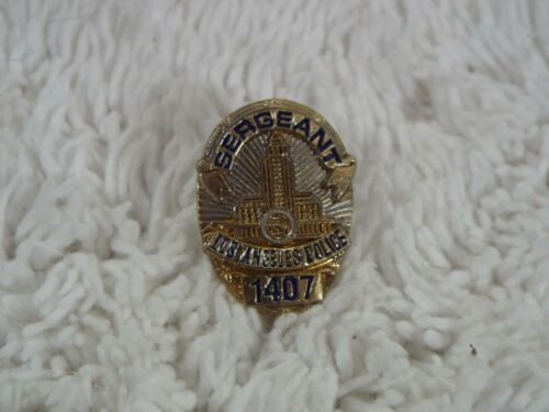 "Los Angeles Police Sergeant Novelty 78"" Shield 1407 Lapel Tie Tac Pin B37"