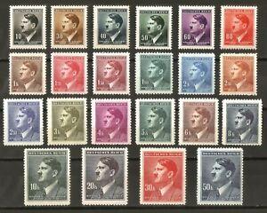 DR-Nazi-3rd-Reich-Rare-WW2-Stamp-Hitler-Head-Birthday-Nazi-Service-in-Cechy-Occu