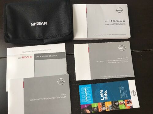 2017 Nissan Rogue Owners Manual With Case OEM Free Shipping