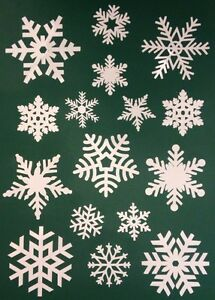 80-Snowflake-Window-Vinyl-Clings-Christmas-Stickers-Reusable-Decorations