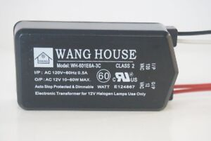 WH-601E6A3C-12V-60W-Wang-House-Low-Voltage-Halogen-Electronic-Transformer-NEW