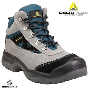 7d7e6254425 Details about Delta Plus Caromb S1P Grey Suede Wide Fit Mens Work Steel Toe  Safety Boots PPE